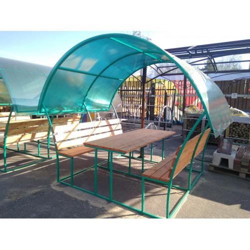 Беседка (крыша из поликарбоната 4 мм) малая 2*2*2