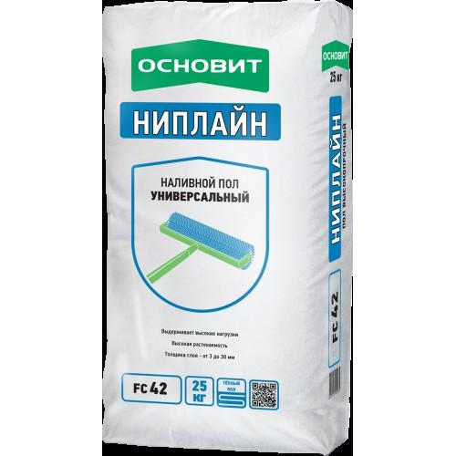 Ровнитель для пола ОСНОВИТ НИПЛАЙН FC42 высокопрочный 25 кг