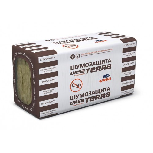 Утеплитель Ursa Terra Шумозащита 1000х610х50 мм 6.1 кв.м