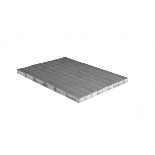 Плитка тротуарная Брусчатка (кирпичик) 100х200х60 мм серая