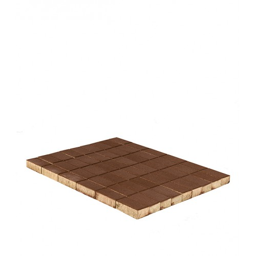Плитка тротуарная Брусчатка (кирпичик) 100х200х60 мм коричневая