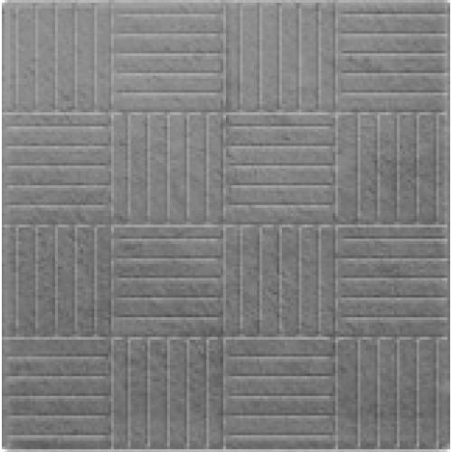 Плитка тротуарная Паркет 300х300х30 мм серая