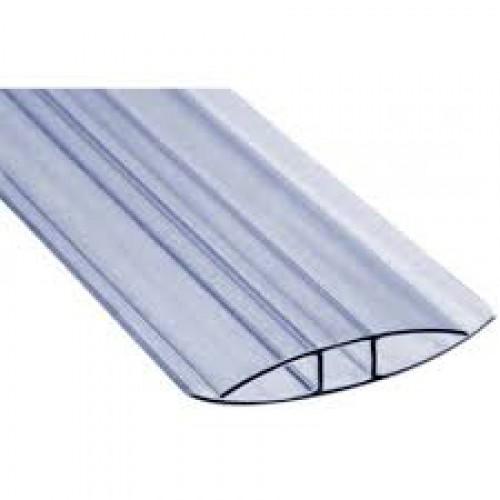 Профиль для поликарбоната прозрачный соединительный  4-6 мм 6000 мм