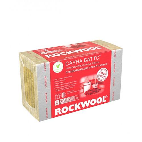 Утеплитель ROCKWOOL Сауна к/ф 1000х600х50 мм 4.8 кв.м