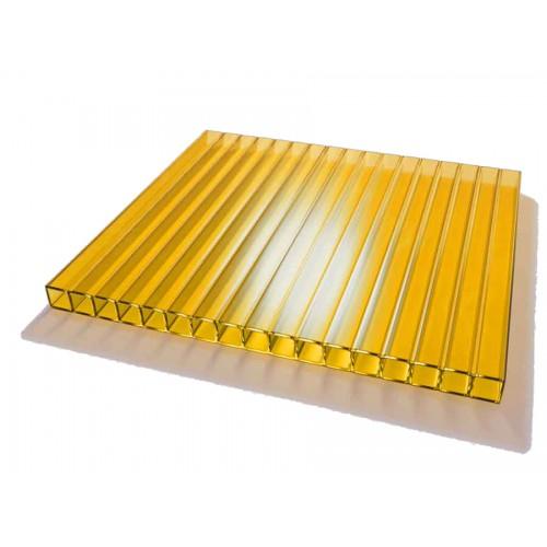 Поликарбонат сотовый 4 мм желтый
