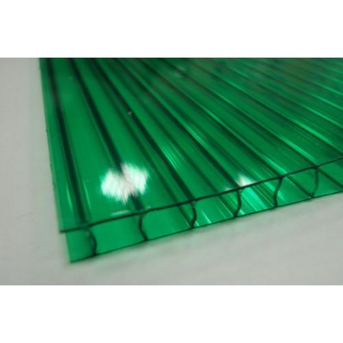 Поликарбонат сотовый 4 мм зелёный