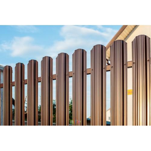 Штакетник (8017) коричневый 1,8